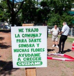 Plan Integral de Plantaciones en la Plaza Misericordia, Flores.