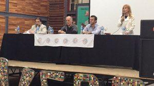 De izq a der: Mariano Yañez (delegado), Alejandro Amor (Defensor del Pueblo), Gonzalo Andrés Lazzarin (Director General de la DGSE, Ana Flores (delegada).