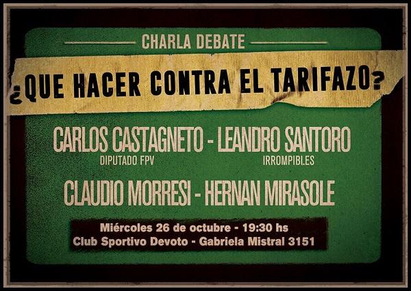 Anuncio de la próxima actividad en la que participará Hernán Mirasole, miembro de la agrupación.
