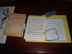 Sus partituras, testigos de su pasión por la música.