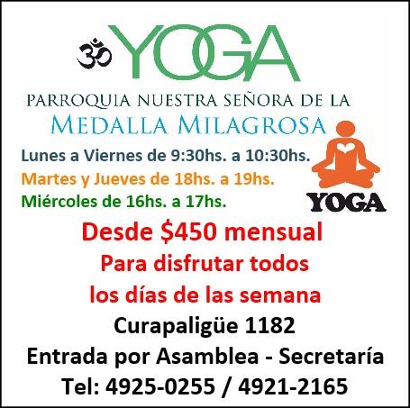 Yoga en la Parroquia Nuestra Señora de la Medalla Milagrosa