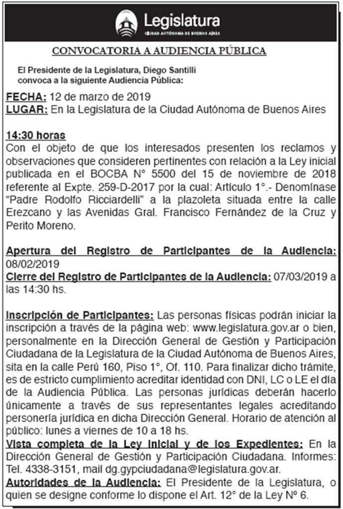 AUDIENCIA PÚBLICA   12/03/2019